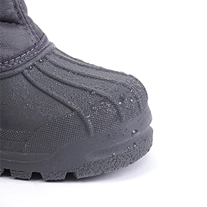 waterproof and lightweight rubber shell and outsole