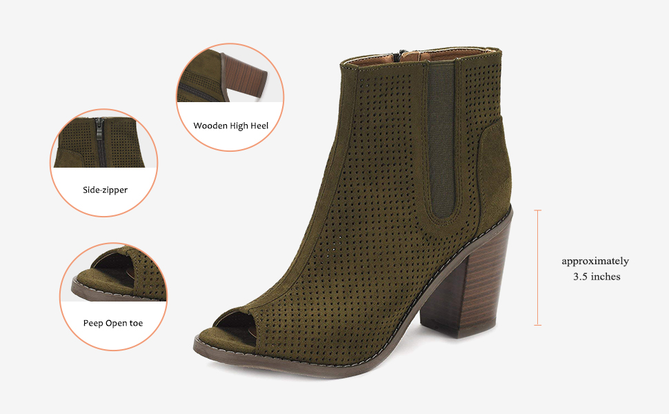 560a7e0ac Amazon.com | DREAM PAIRS Women's Block Heel Ankle Booties | Ankle ...
