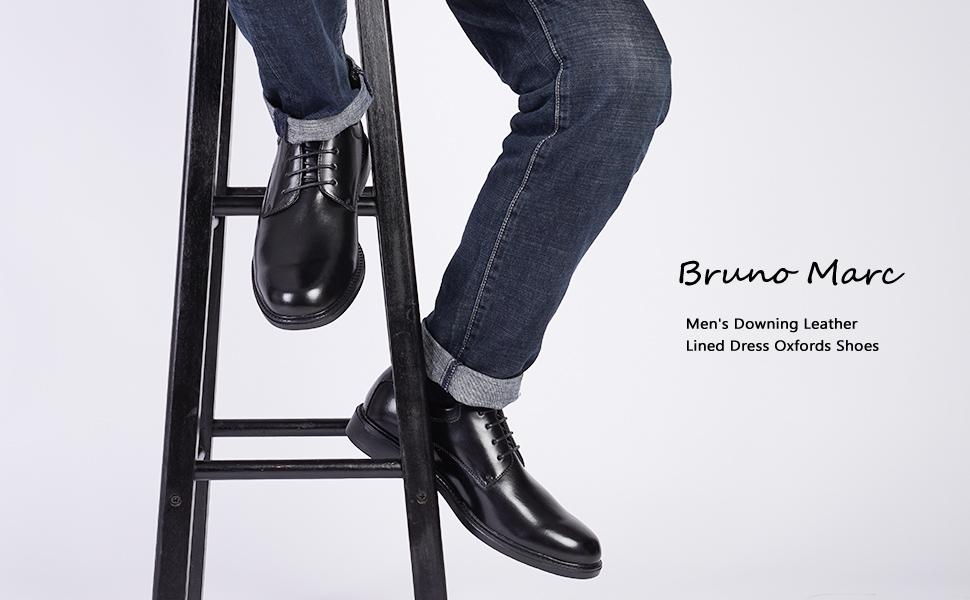 Bruno Marc Prime-1 Zapatos de Cordones Vestir Oxfords para Hombre