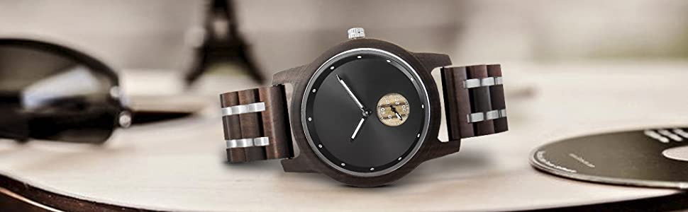 Japan Movement Watch Black Watch Custom Watch Birthday Gift Personalized Engraved Wooden Watches