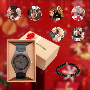 Mens Personalized Engraved Wooden Watches Wood Wristwatches for Men Family Friends Customized Gift
