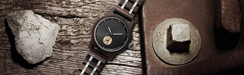 Wristwatches for Men Family Friends Customized Gift Birthday Anniversary Gifts Handmade Wood Watch