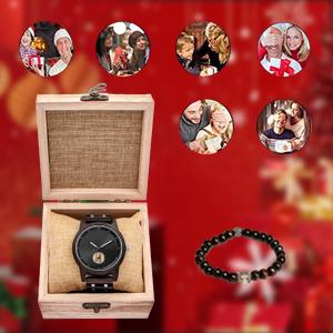 Stainless Steel Watch Gift for Husband Boyfriend Dad Son Friend