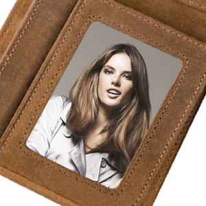 Genuine Leather Personalized Bifold Wallet for Men