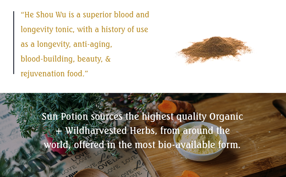 Amazon Com He Shou Wu 80g By Sun Potion Fo Ti Tonic Certified