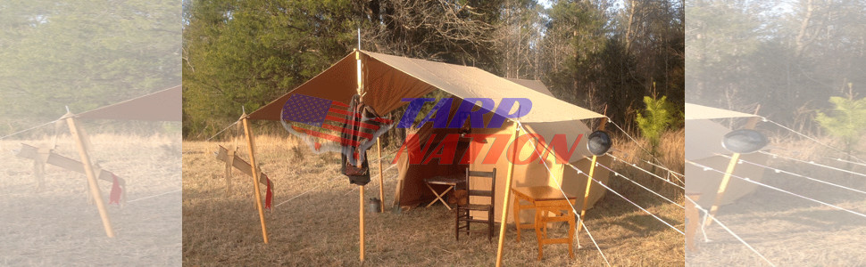 Tarp used for camping tent.