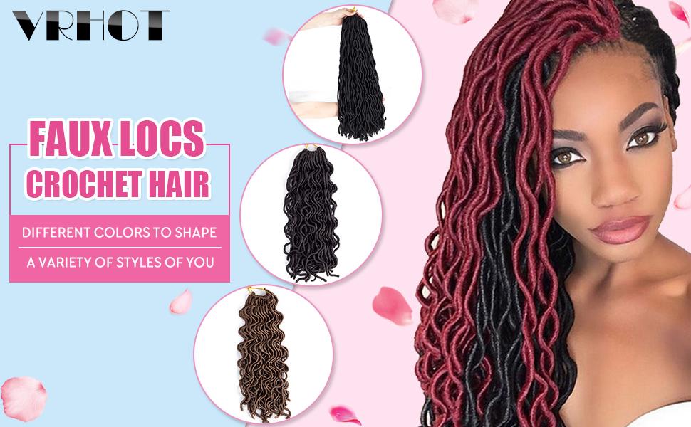Amazon 6packs 14 Wavy Faux Locs Crochet Hair Braids Twist