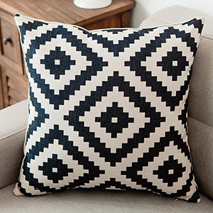 black white cushion covers