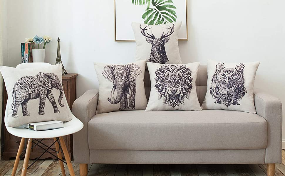 elephant decorative cushion covers