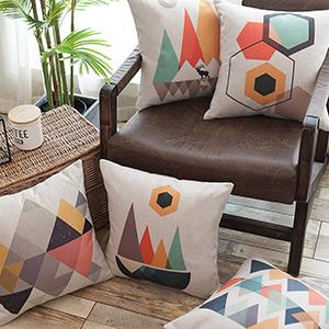 geometric throw pillowcase