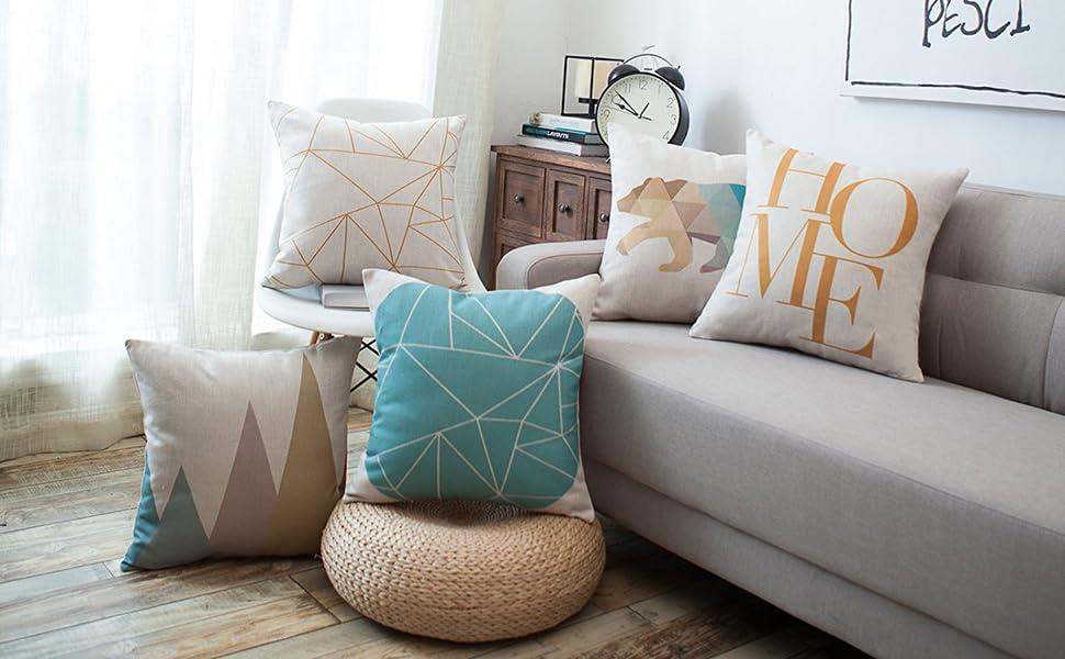 geometric throw pillow cushion covers