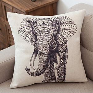 elephant throw pillow covers