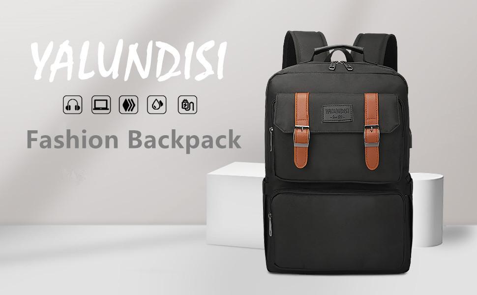 laptop backpack vintage bookbag bag