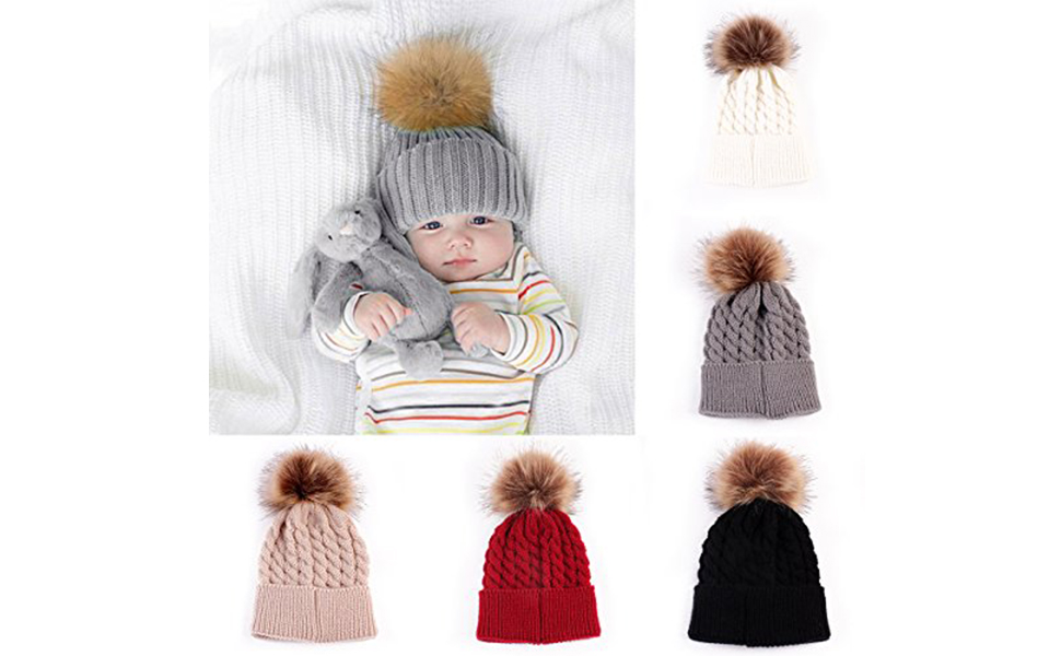 a981531965e Amazon.com  oenbopo Baby Winter Warm Knit Hat Infant Toddler Kid .