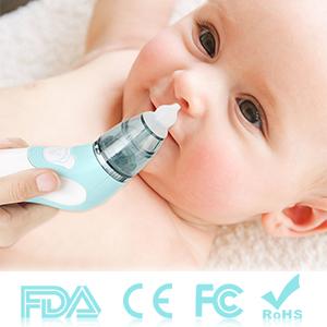 Amazon.com: Aspirador nasal para bebé, limpiador de nariz ...