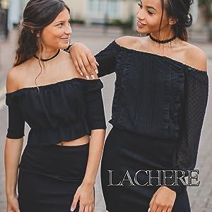 LACHERE Black Mini Skirt