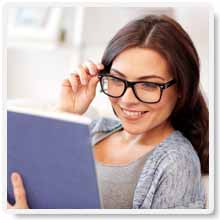 Woman Boosting Mental Alertness and Concentration by Reading Our Brain Power Improvement eBook
