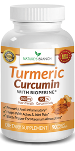 Extra Strength Turmeric Curcumin with BioPerine And Black Pepper Extract Capsules Supplement Bottle