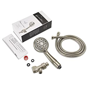 shower head with hose and bracket