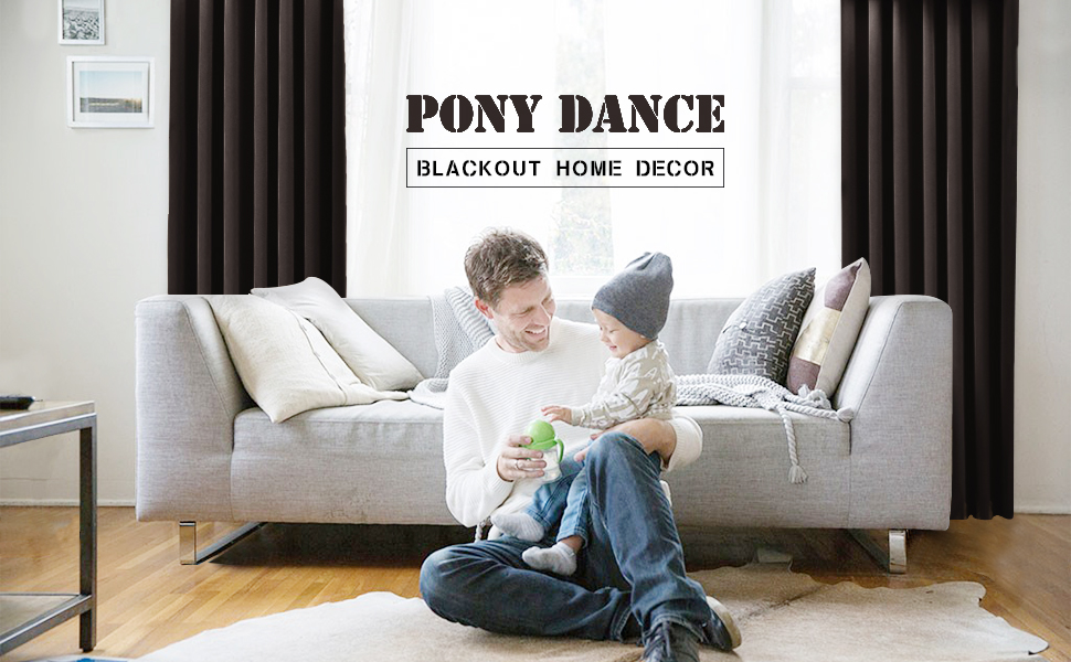 pony dance blackout curtain is designed in the spirit of simplicity and elegance that it from other curtains in current market