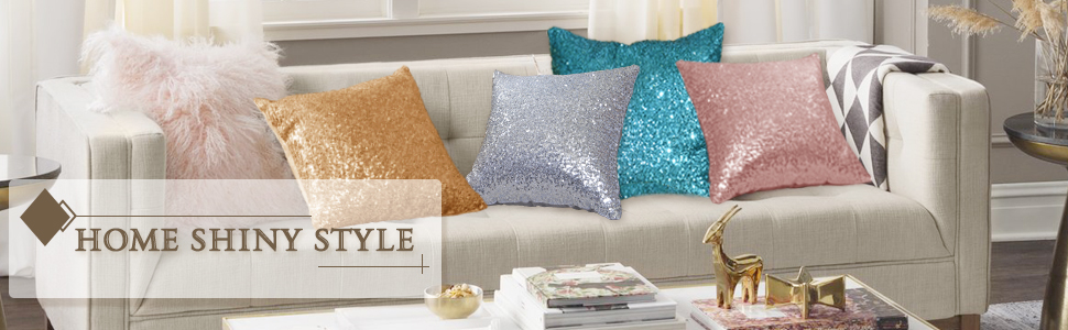 sequin cushion covers
