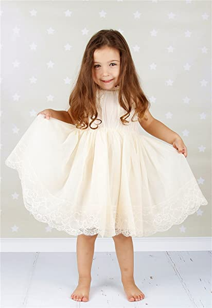amazoncom bow dream flower girls dress lace clothing