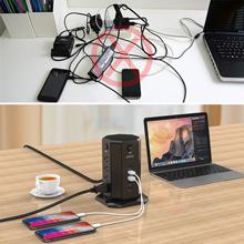 usb and plug charging station