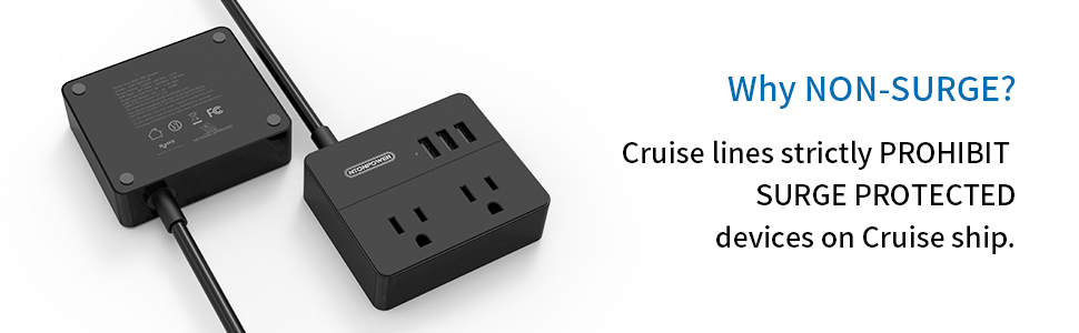 Cruise ship power strip