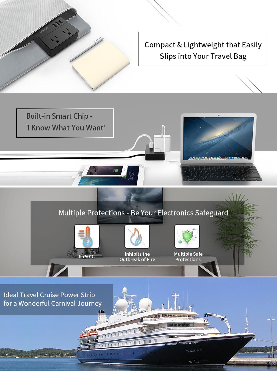 travel power strip cruise