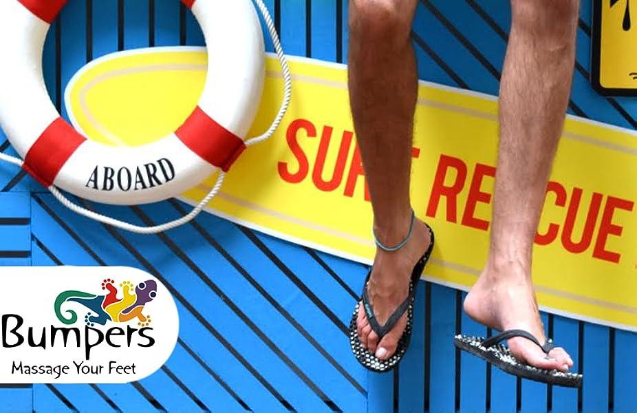 0ce360d952d Bumpers Premium Men s and Women s Flip Flops Massage Sandals. Photo credit  to Amazon. If ...