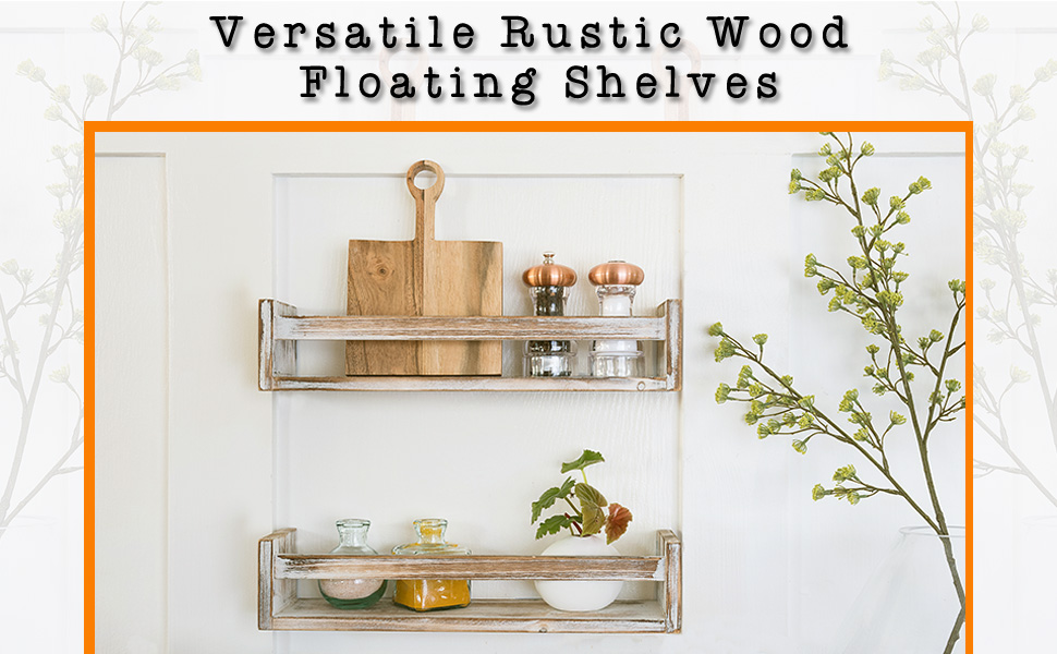 These shelves are made of solid wood