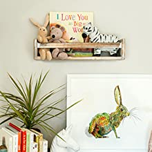 These premade shelves are made with high-quality wood
