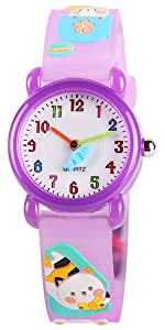 Amazon.com: Venhoo Kids Watches 3D Cute Cartoon Waterproof Sport Silicone Children Toddler Wrist Watches Time Teacher Gift for Girls Little Child (Angle): ...