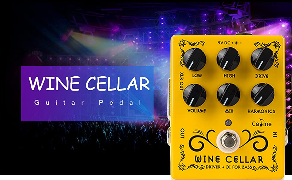 NEW CALINE WINE CELLAR CP-60 Driver and DI Bass Pedal *US SELLER!*