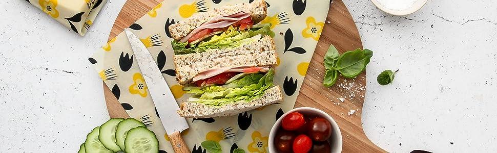 Amazoncom Organic Beeswax Reusable Food Storage Wraps 3 Pack