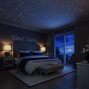 glow in the dark bedroom stickers granite
