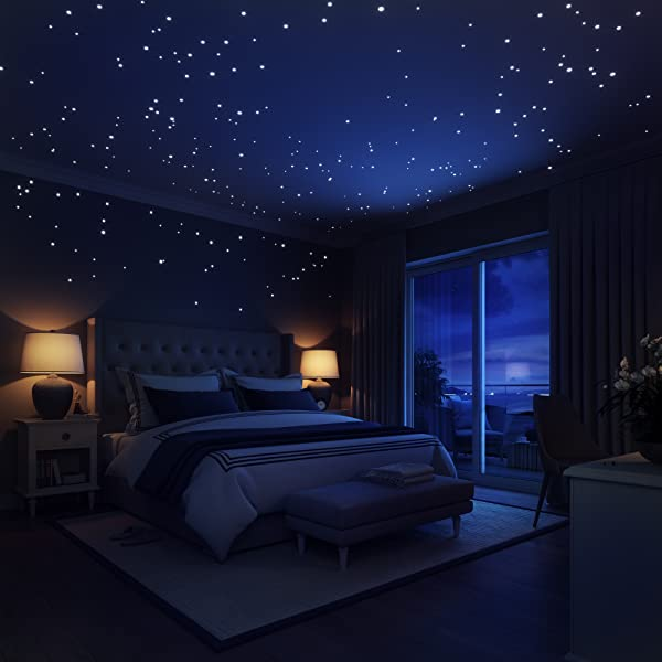 Amazon Com Glow In The Dark Stars Wall Stickers 252