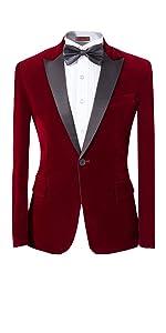 Mens 2-Piece Suit Peaked Lapel One Button Tuxedo Slim Fit Dinner Jacket amp; Pants