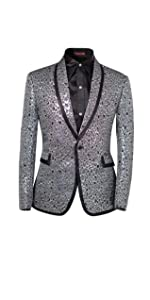 Men's 2 Piece Suit Single Breasted One-Button Shawl Collar Tuxedo Pants Set