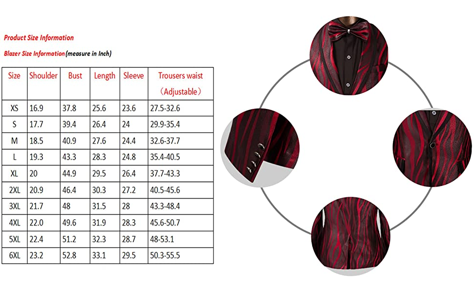 Men's Suit Shawl Collar One Button Red Dress Suit Smart Fit Blazer and Pants