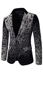 Men's Casual Suit Jacket Single-Breasted Slim Fit Party Wedding Coat