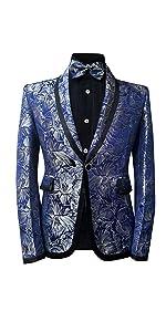 Men's Tuxedo Casual Dress Suit Slim Fit Jacket amp; Trouser