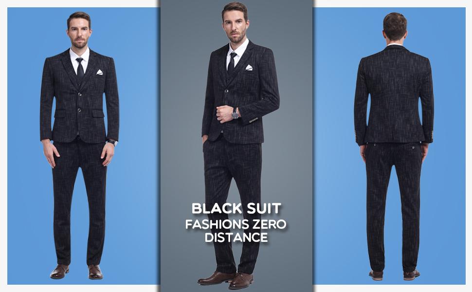 Conjunto De Traje De 3 Piezas A Cuadros Para Hombre De Ajuste Moderno Chaqueta De Esmoquin Tipo Blazer Pantalones Chaleco Clothing