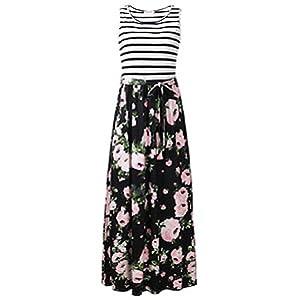 Tank dress with pockets seevelees dress beach dress long Maxi dress summer dress women dress