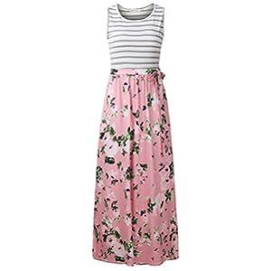 summer dress women dress long Maxi dress floral dress long tank dress beach dress ALine pleats dress