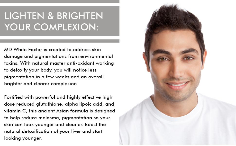 white factor lighten your skin tone