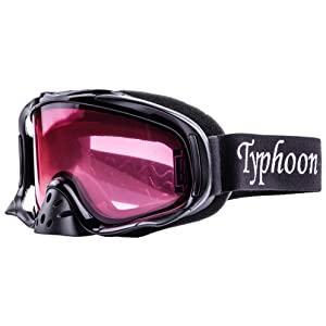 Adult Snowcross Anti-Fog Goggles Typhoon Sports Rose /& Clear Lens GREEN