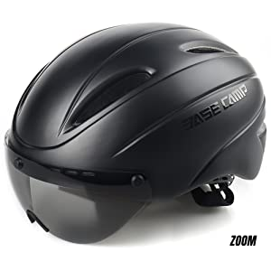 BASE CAMP ZOOM Bike Helmet with Removable Visor