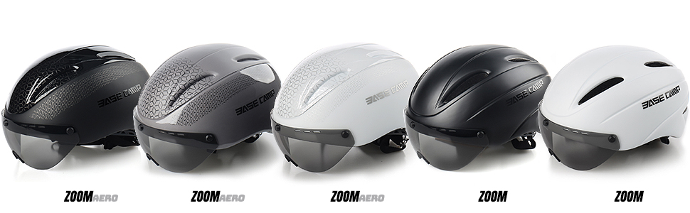 BASE CAMP ZOOM Aero Bike Helmet with Removable Visor