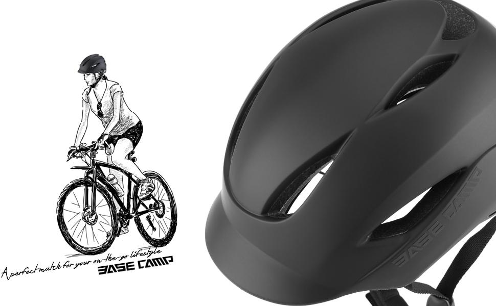 BASE CAMP Bike Helmet for Urban Commuter